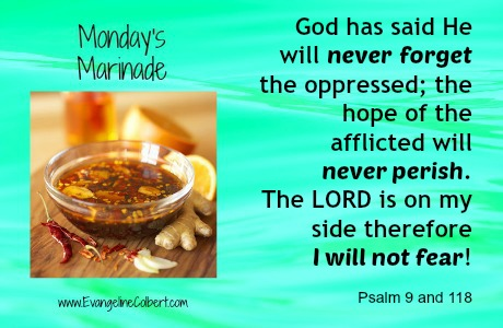 Monday's Marinade - I will not fear
