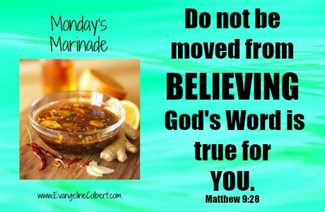Monday's Marinade - Don't Move - Believe