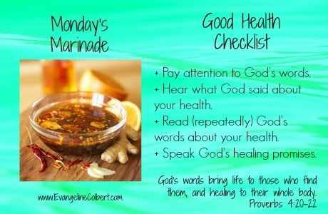 Health checklist - Proverbs 4
